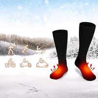 3V Thermal Cotton Heated Socks Men Women Battery Case Battery Operated Winter Foot Warmer Electric Socks Warming Socks
