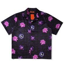 T-Shirt Men Gengar Funny Top Tees 100% Cotton Breasted 2021 Spring Autumn Tshirt Hip Hop Streetwear Harajuku T-shirt Men Clothes