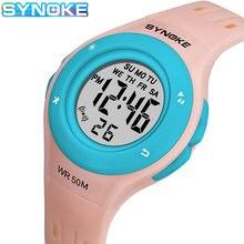 Synoke Дети девочек электронные цифровые часы 50bar Водонепроницаемый