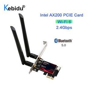 Wi-Fi 6 PCI-e сетевая карта 3000 Мбит/с Dual Band 5G 2,4G 802.11AX Bluetooth 5,0 Беспроводной Wifi6 PCI Express телевизионные антенны для Intel AX200