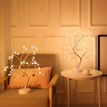 LED Night Light Bonsai Tree Light Christmas Tree Copper Wire Garland Lamp For Home Party Wedding Indoor Decoration Night Light