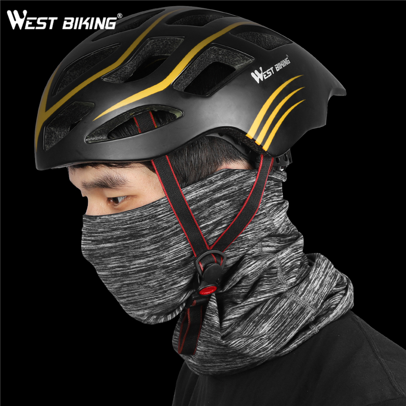 WEST BIKING – Masque de course en molleton pour le cou, avec bandeau pour la tête, accessoire pour le cyclisme