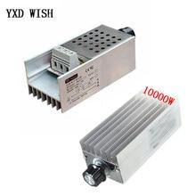 AC220V 10000 W High Power SCR BTA10 elektroniczny Regulator napięcia Regulator prędkości cyfrowy wyświetlacz do termostatu prędkości ściemniania