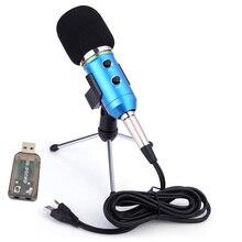GEVO USB Microphone pour ordinateur câblé 3.5mm câble chant Studio denregistrement condensateur micro pour YouTube vidéo Skype chat jeu