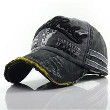 New Men Women Letter Hats Washed Cotton Baseball Cap Snapbac