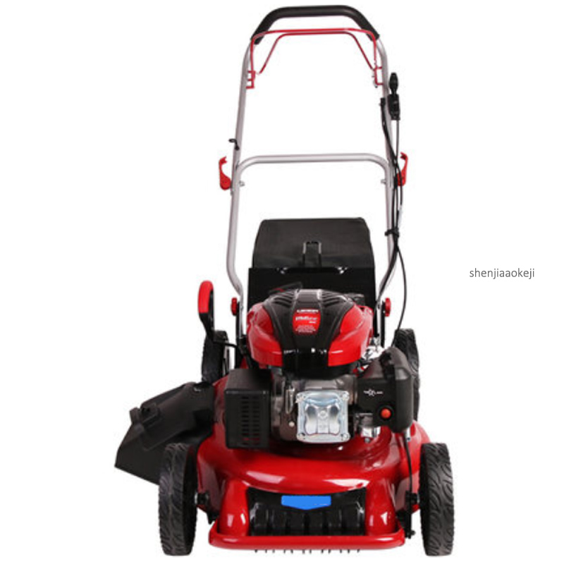 Self-propelled/Hand Push-type Four-stroke Gasoline Mower Gasoline Engine 8-gear Height Adjust Weeder MDSLX-196EA Lawn Mower 1PC