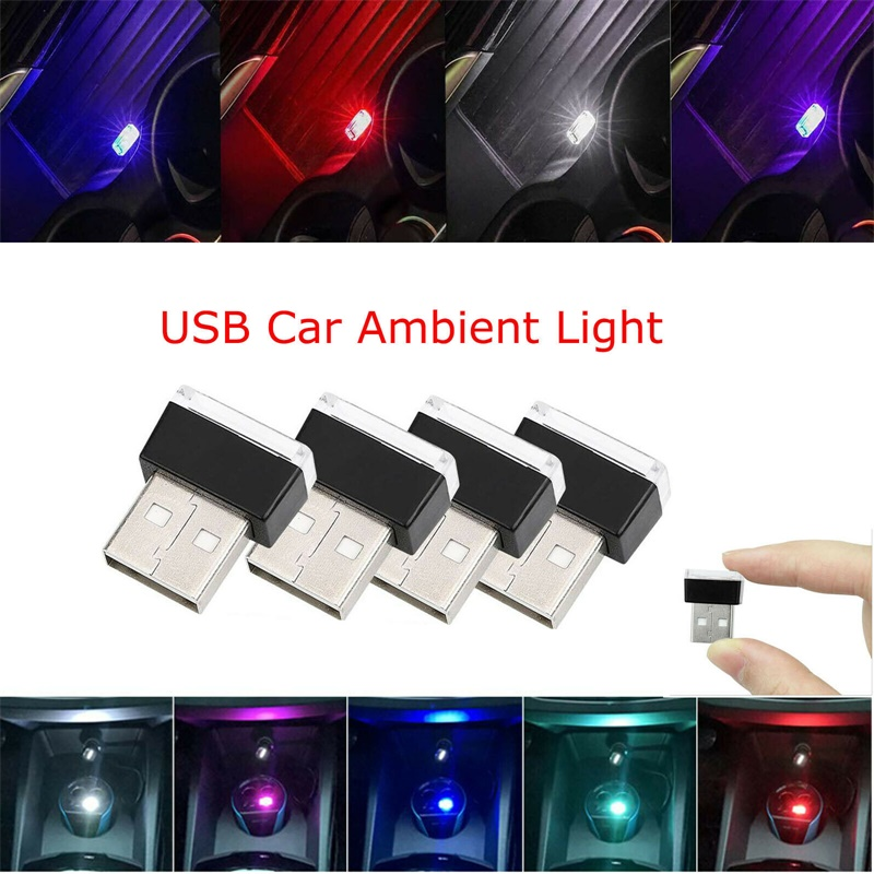 Flexible Mini USB 5V LED Light Colorful Night Light Lamp For Car Atmosphere Lamp Bright Accessory Distinctive Lighting Effect YZ