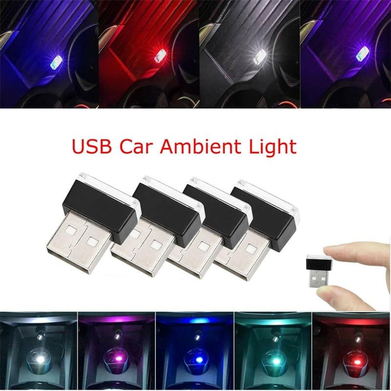 Flexible Mini USB 5V LED Light Colorful Night Light Lamp For Car Atmosphere Lamp Bright Accessory Distinctive Lighting Effect YZ