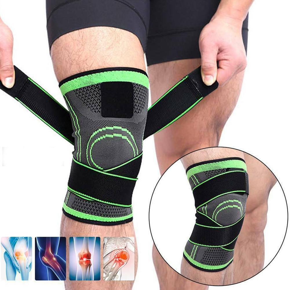 Elastic Bandage Compression Breathable Knee Support Sport Running For Fitness Arthritis Belt Muscle Protector Joint Brace B C9L9