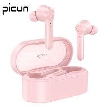 Picun w20 fone de ouvido sem fio bluetooth tws esportes fones baixo som toque operar tampões dupla estéreo fone jogos para pc pho