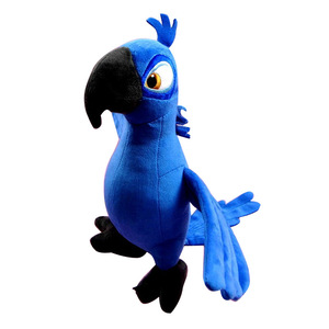 Image 4 - New Cute Rio Parrot Plush Toy  Stand up Parrot Doll Toy Stuffed Macaw Plush Bird Toys 4 Colors