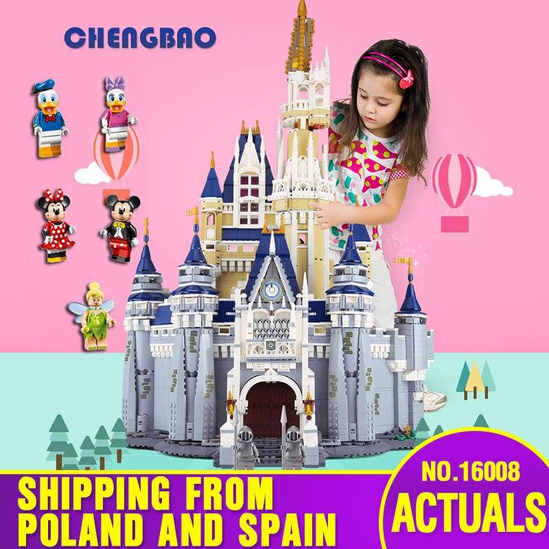 DHL 16008 de Castillo de princesa de Cenicienta 4080 de la ciudad de piezas modelo educativo bloques de construcción chico regalo de juguetes Compatible con 71040 chico s juguetes-in Bloques from Juguetes y pasatiempos    1