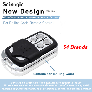 Garage Door Remote Control Rolling Code Replacement Gate Opener for Part of Chip HCS300 HCS301 433 868 MHz - discount item  40% OFF Access Control