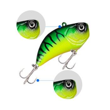 LUSHAZER fishing lures spoon vib lure metal baits hard fishing lure spinner O9C2