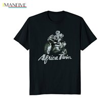 Newest 2019 Men T-Shirt Fashion AFRICA TWIN Shirt Vintage Trail Riding Rally Motorcycle Tee O Neck Short Sleeve