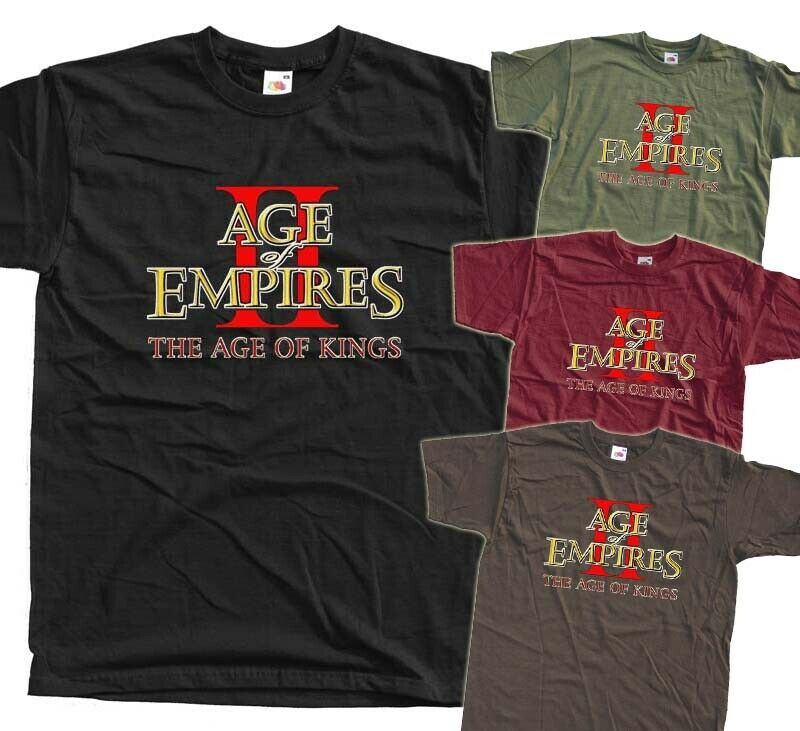 Age of Empires II: The Age of Kings, GAME 1999, T-Shirt (BLACK) All sizes S-5XL Short Sleeve Tee Shirt Free Shipping cheap whole image