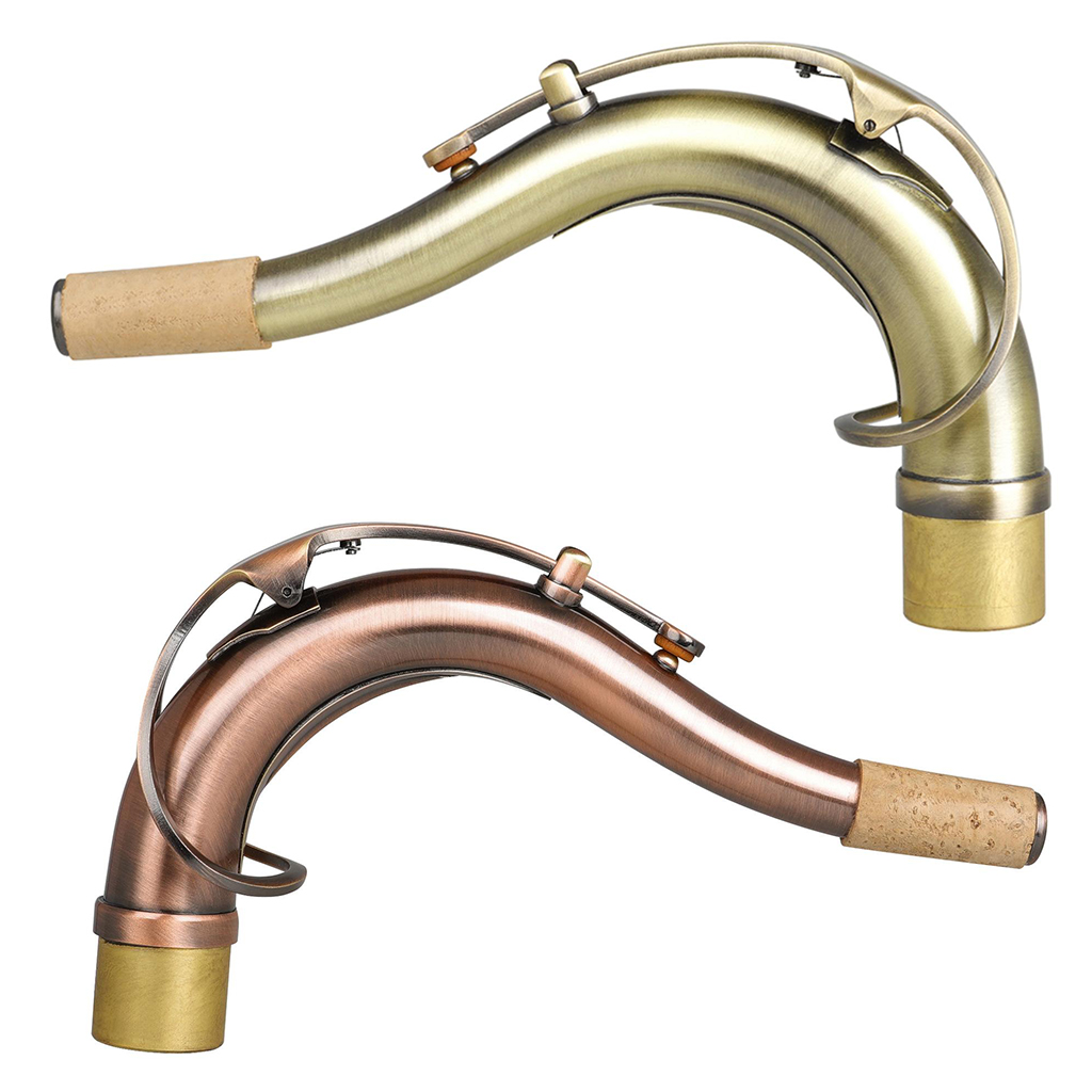 Excellent Tenor Sax neck gold lacquer brass material Saxophone Woodwind parts Saxophone Repair Maintenance Tool Supplies