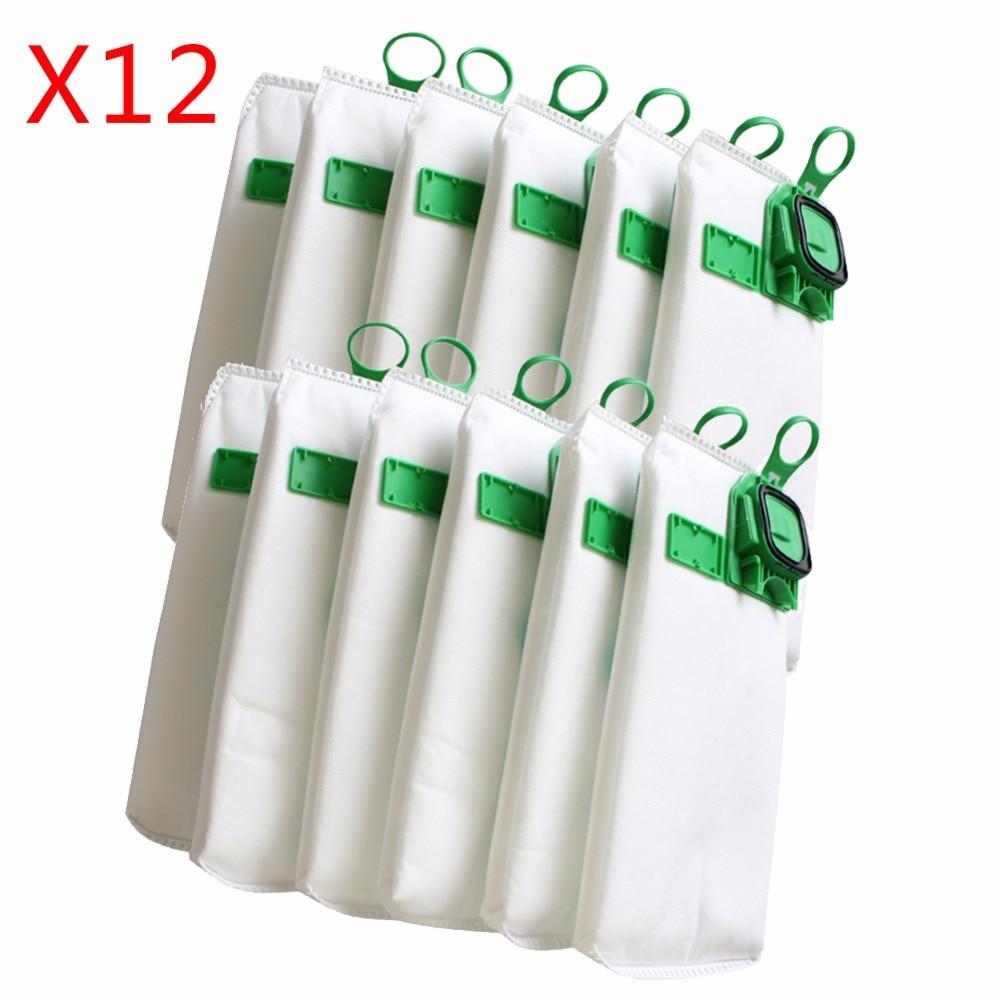12pcs High Efficiency Dust Filter Bag Replacement For Vorwerk VK140 VK150 Garbage Bags FP140 Vacuum Cleaner