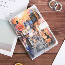 Criativo cor página fivela magnética notebook papelaria bloco de notas cor borda mão livro diário engrossado cópia dura
