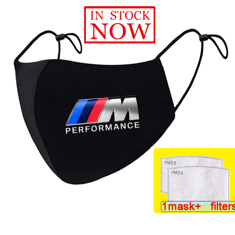 Bmw M производительность логотип M Power печать моющиеся маски для лица с ушной петлей лицевая респираторная маска для езды на велосипеде против...