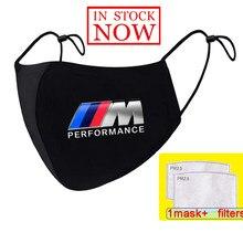 Bmw m desempenho logotipo m power print lavável rosto máscaras earloop máscara de respiração ciclismo anti poeira boca máscara respirador