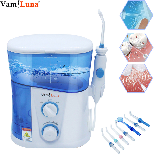 Electric Water Flosser Water Flossing Dental Oral Irrigator for Teeth Cleaning Professional Floss 1000L with 7 Tips