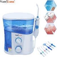 Elektrische Wasser Flosser Wasser Zahnseide Dental Oral Irrigator für Zähne Reinigung Professionelle Floss 1000L mit 7 Tipps