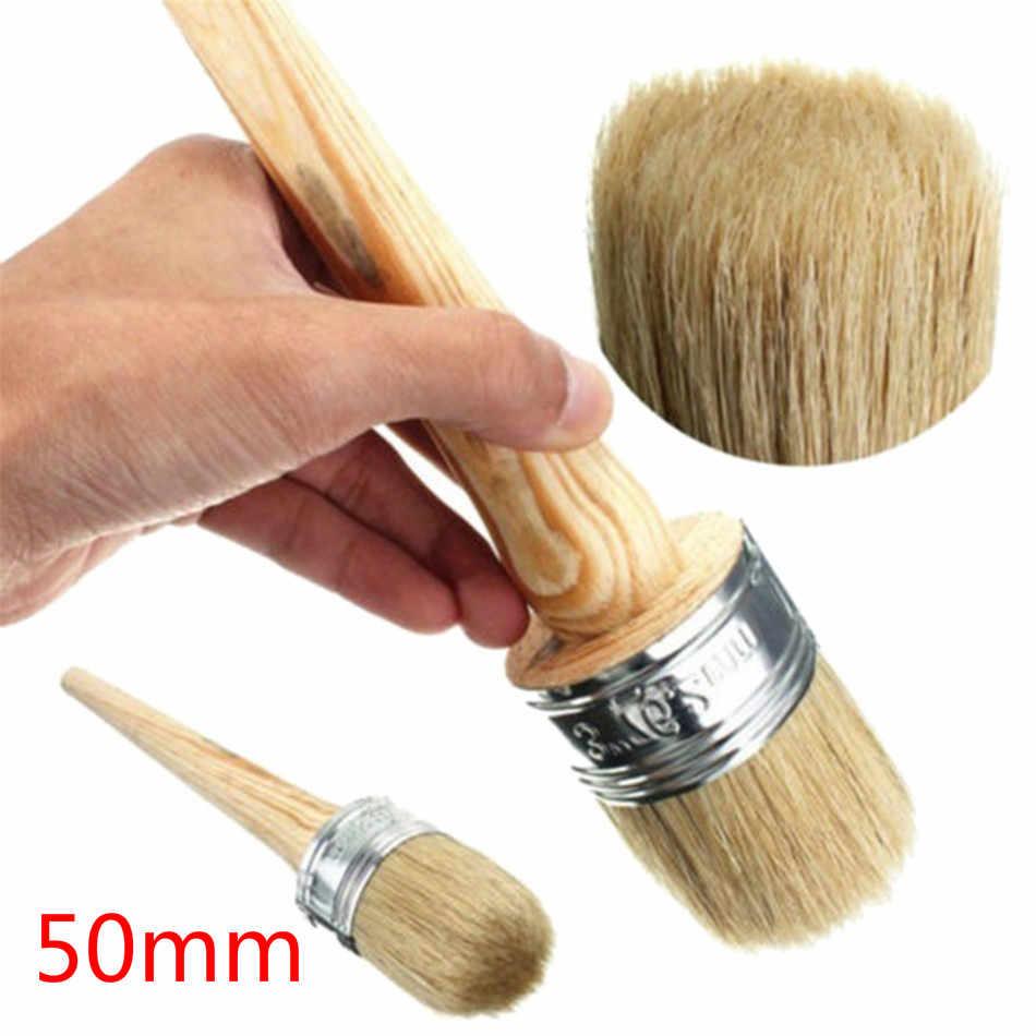 fai da te Set di 6 pennelli per stencil in legno con setole naturali per pittura