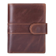 Western Gunuine Leather Detachable License Men Wallet Fashion Cow Short Purse
