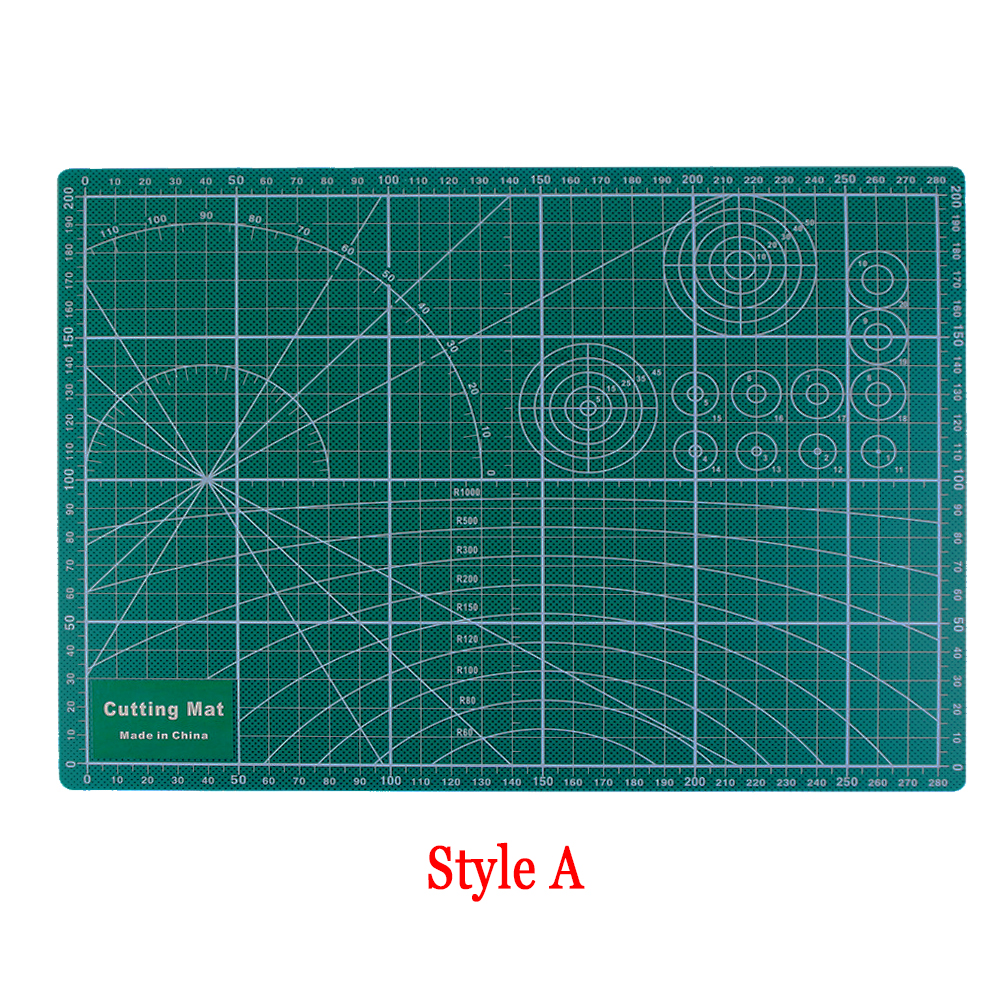 Size 30*22cm A4 Durable Cut Pad Patchwork Tools Random Sent PVC Cutting Mat Handmade Diy Accessory Cutting Plate Dark Green