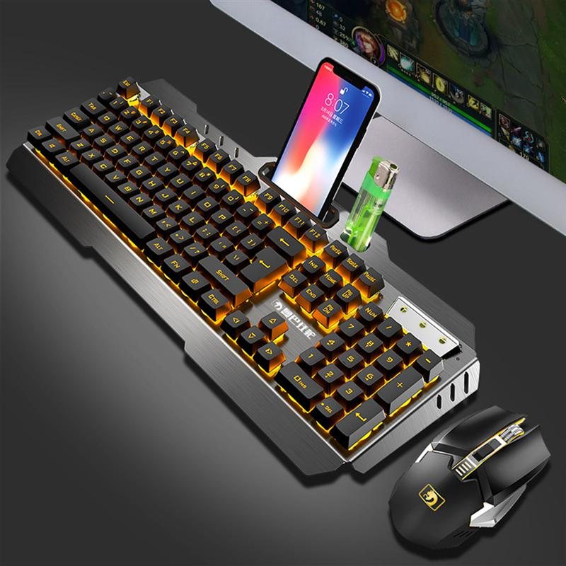 Gaming Keyboard And Mouse Wireless Keyboard With Backlight Keyboard Gamer Kit Gaming Mouse Set For PC Laptop