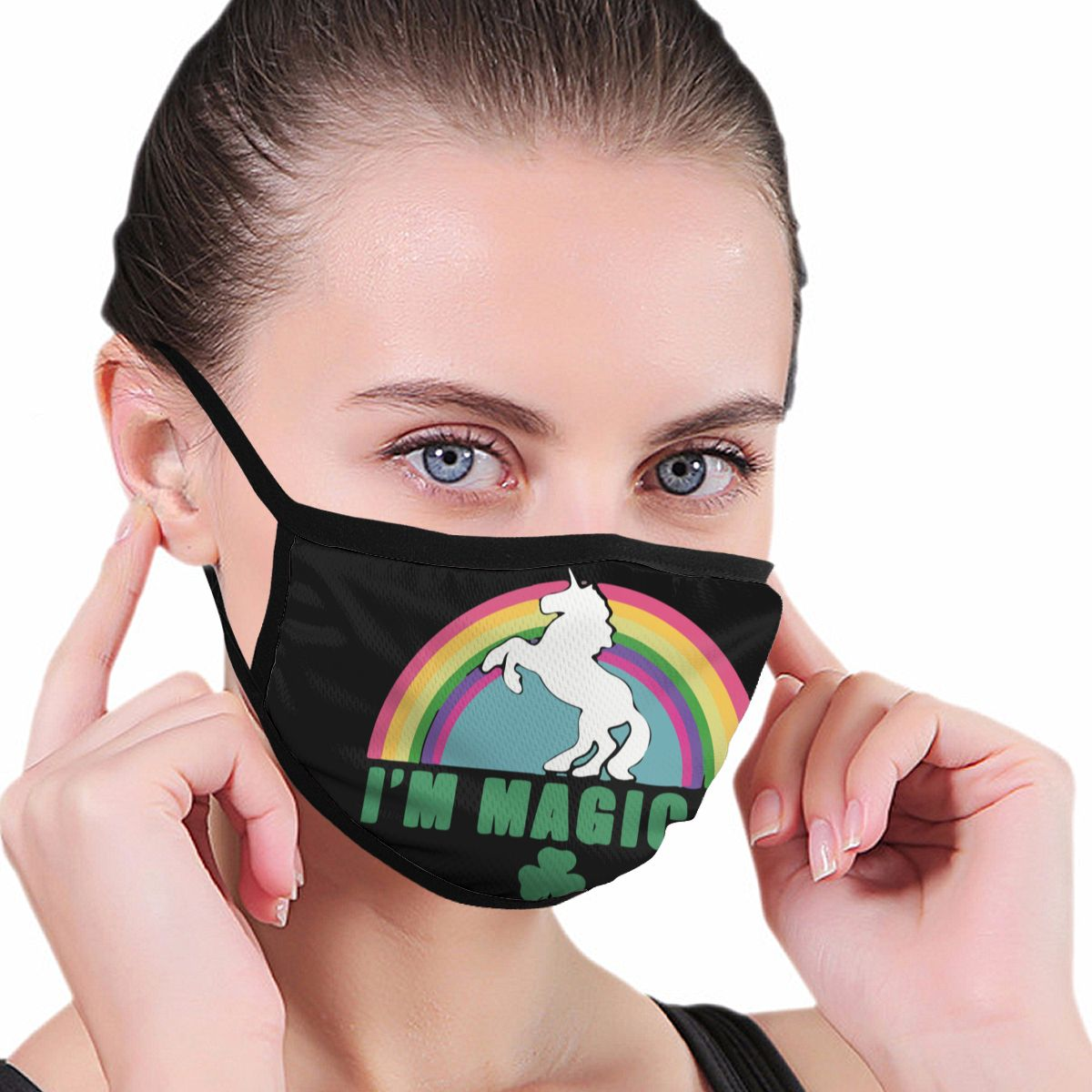 2020 Magical Horse Polyester Dustproof Mouth Face Mask 1pc Kawaii Cute  Women Men Ladies Girls Boys Muffle Face Mouth Anti Dust