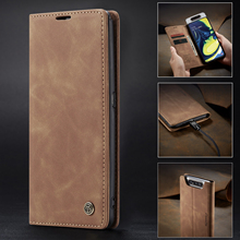 CaseMe Retro Magnetic Case For Samsung Galaxy Note 10 Plus Wallet Leather+TPU A80 A20E Cover