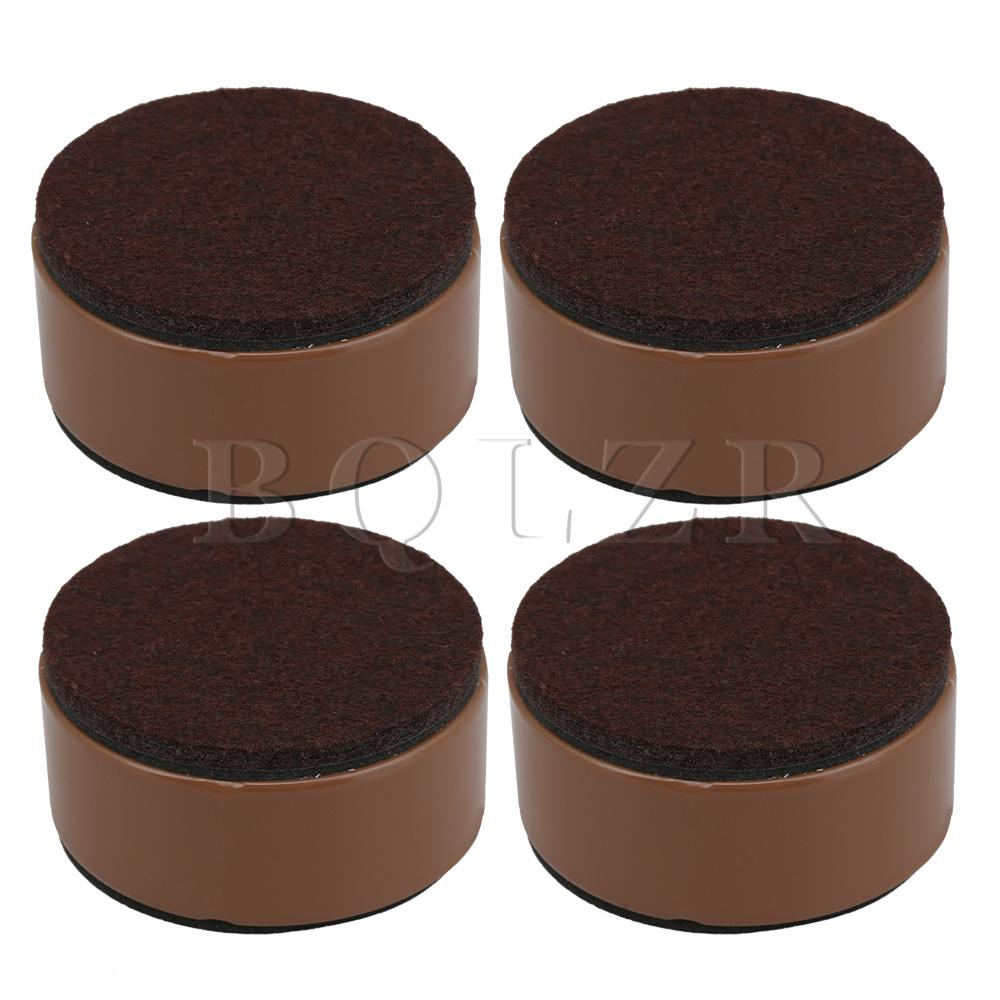 BQLZR 4pcs 6x3cm Carbon Steel Round Brown Furniture Legs Lifter For Bed Table
