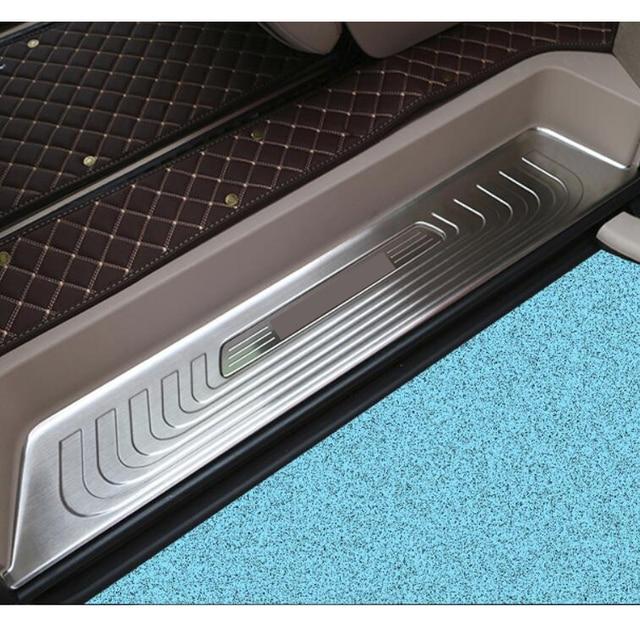 Para mercedes benz v classe metris viano metris w447 2015 2019 porta do carro sleeper vestir passo proteção capa guarnição de aço inoxidável