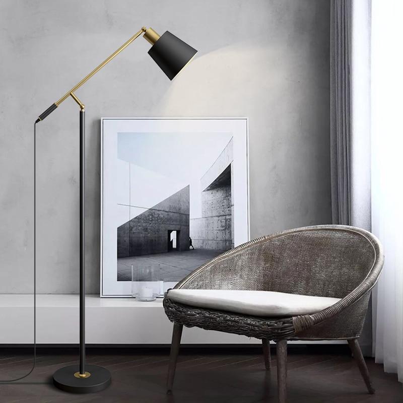 Nordic modern minimalist LED creative Shake arm floor lamp living room study floor lamp bedroom bedside floor lamp