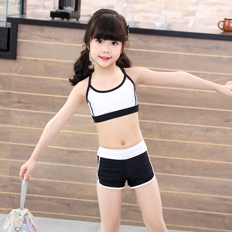 2019 Girls New Style Children Two-piece Swimsuits Three-piece Set Boxers Baby Girl Swimwear Sun Shirt Tour Bathing Suit