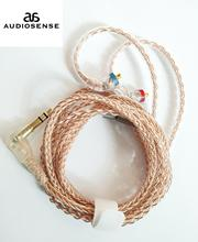 AUDIOSENSE 8 Strands 19 Core 6N  Single  Crystal Copper Headphone Upgrade MMCX Cable For T800 ,SE846,UE900,W80,XBA H3 etc