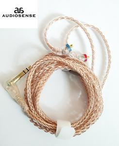 Image 1 - AUDIOSENSE 8 Strands 19 Core 6N  Single  Crystal Copper Headphone Upgrade MMCX Cable For T800 ,SE846,UE900,W80,XBA H3 etc