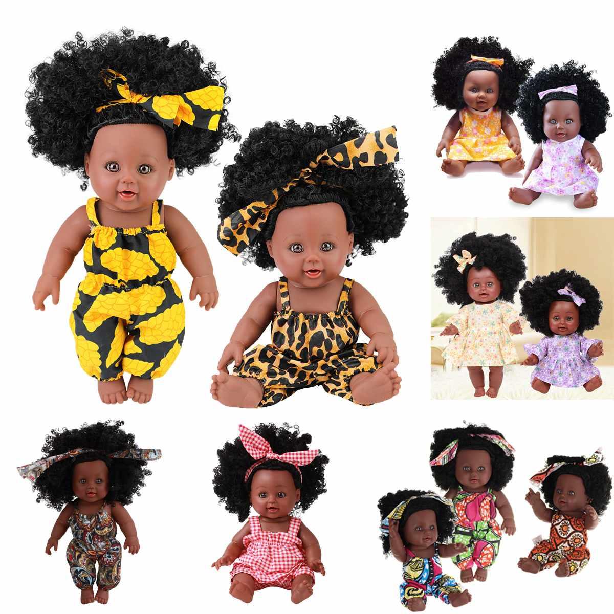 Американская черная кукла реборн ручной работы, силиконовая виниловая Мягкая Реалистичная кукла для новорожденных, игрушка для девочек, рождественский подарок