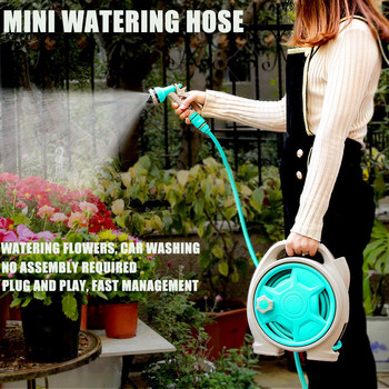 New Turntable Hose Pipe Spray Pipe Nozzle With Stand Garden Watering Flower Spray High Pressure Car Wash Water Pipe #F5