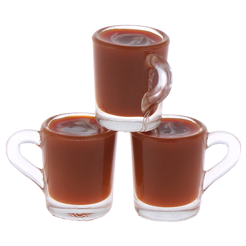 Mini Coffee Cup Simulation Cup Drink Pearl Milk Tea Model Toy Random Color 1/12 Dollhouse Miniature Accessories Decoration