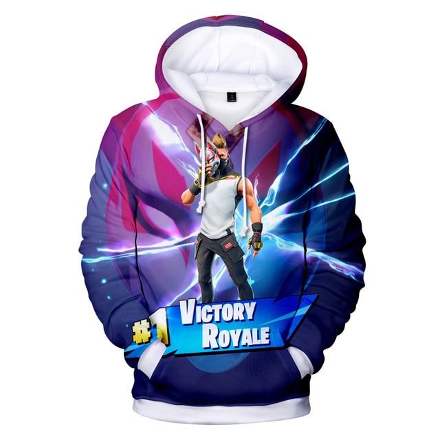 Battle Game Pink Bear New 3D Hoodie Children Streetwear Hip Hop Warm Hoody Sweatshirts Harajuku Sweat Homme Hoodies 1