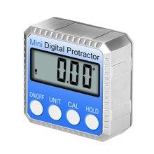 360 ° منقلة رقمية صغيرة عالية الدقة مقياس الزوايا الإلكترونية الميل المستوى الرقمي زاوية مكتشف صندوق قياس الزاوية