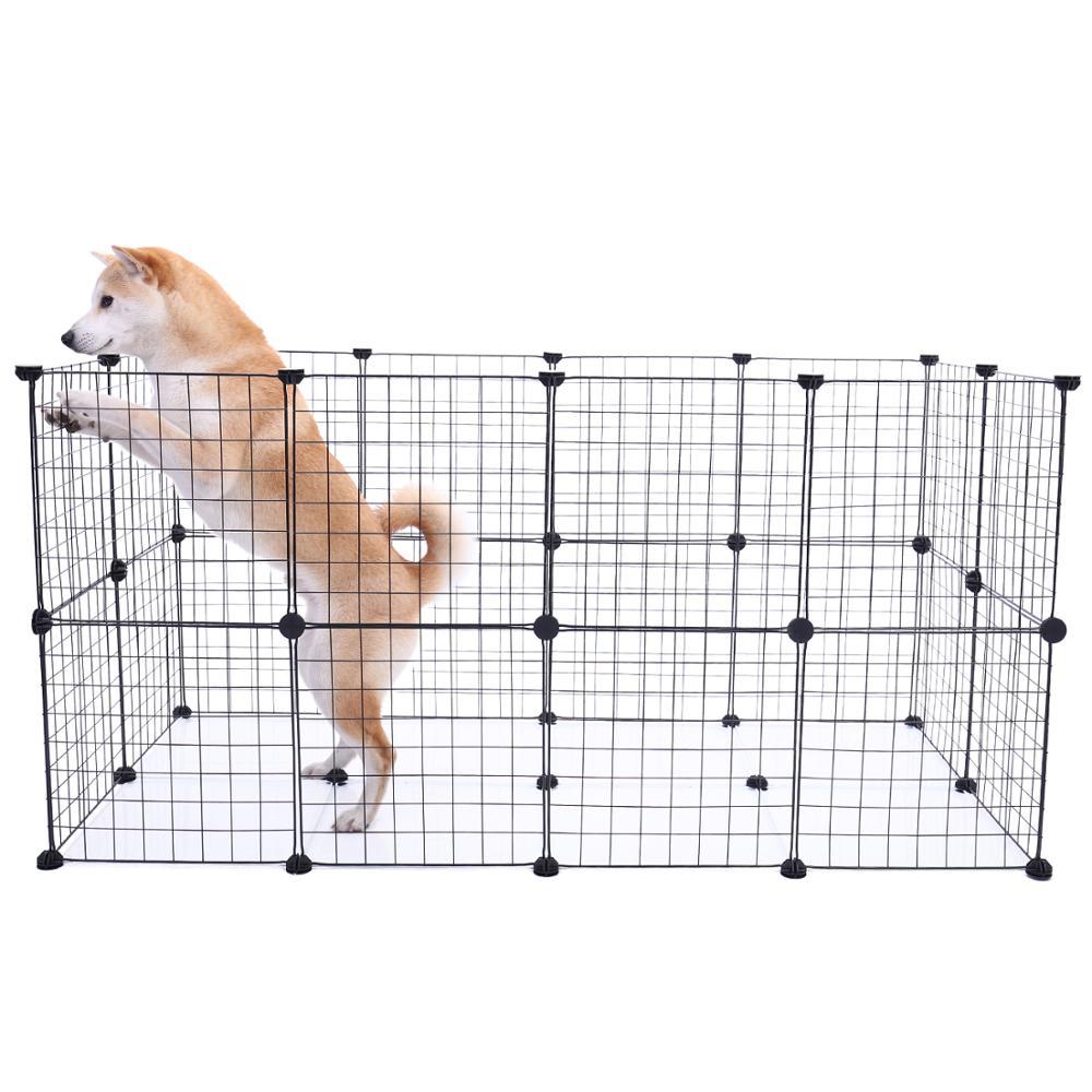 Складные ворота для домашних питомцев, охранник для собак и кошек, легко устанавливается, заборы для собак, домашняя тренировочная будка