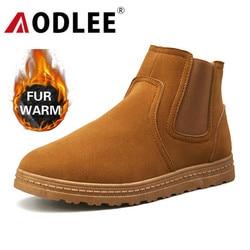 Aodlee inverno botas de neve de pelúcia para homens sapatos de inverno quente tênis masculinos calçados de moda ao ar livre botas de tornozelo dos homens sapatos casuais