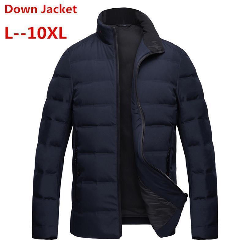 Plus Size 8XL 7XL 6XL White Duck Down Long Jackets Men Winter Long Parkas Windproof Hooded Coat Male High Quality Thicken Coats