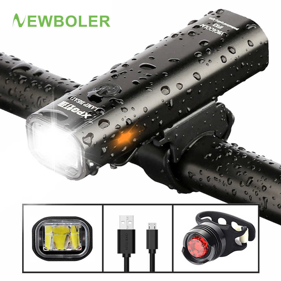 WEST BIKING Bicycle USB Charge LED Flashlight MTB Glare Headlamp Taillight BEST