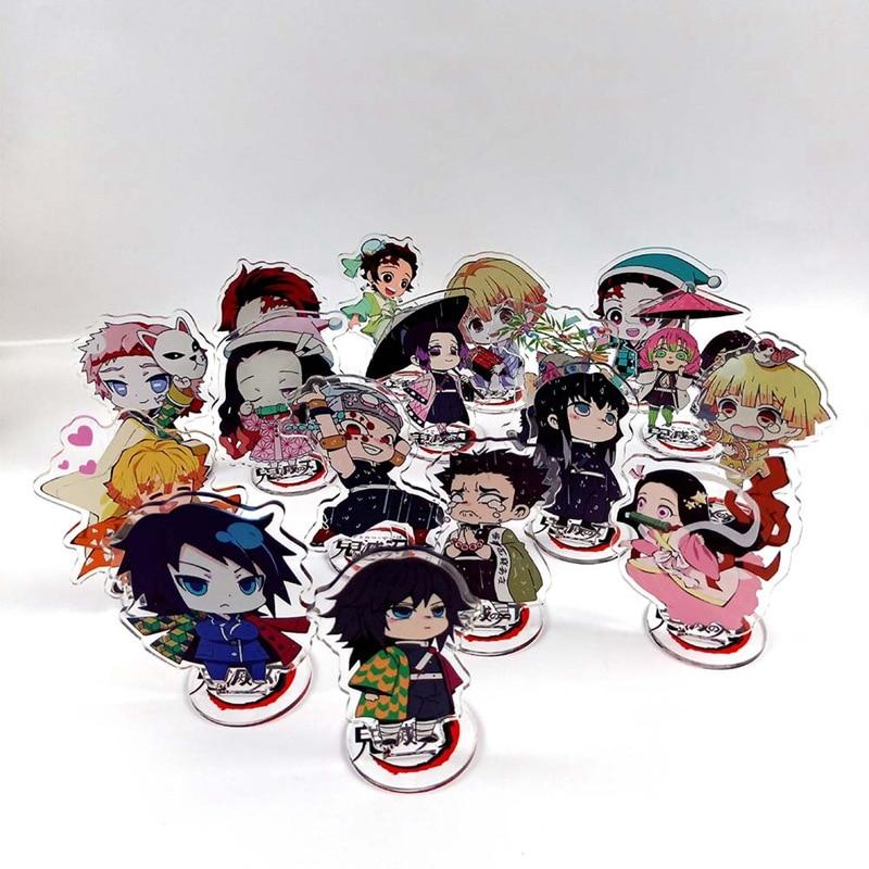 Anime Demon Slayer: Kimetsu No Yaiba Kamado Tanjirou Nezuko Acrylic Stand Model Toys Action Figure Toys Office Decor Stationery