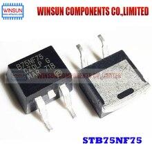 50PCS/LOT STB75NF75 TO 263 B75NF75 75NF75 80A75V SMD Brand New Original